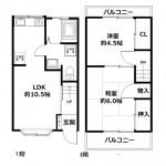 【賃貸】尼崎市武庫之荘2丁目 中古一戸建て住宅